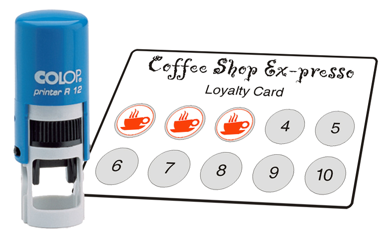 Self-Inking Loyalty Card Stamps