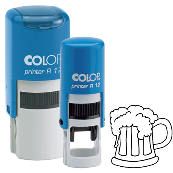 Loyalty Card Self-Inking Rubber Stamp:Beer Glass
