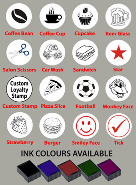 Self Inking Loyalty Card Stamps - Speedy Stamps Speedy Stamps
