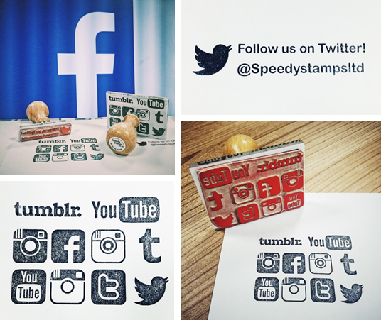 Rubber Stamps for Social media!