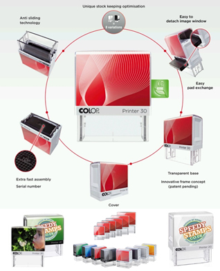 New Printer Line Rubber Stamps With Image Card!