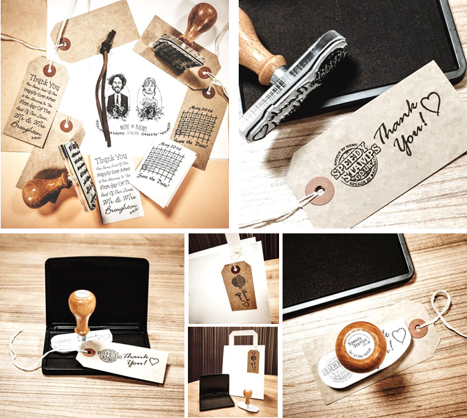 Tag Branding Rubber Stamp Kits
