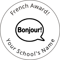 French Award 40x40mm