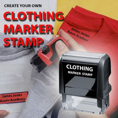 Self Inking Clothing Marker Stamps Are Ideal For Marking All Types Of Fabrics School Clothes Uniforms Ink Colour Comes In Black With
